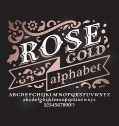 Retro rose gold font vector