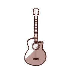 Shadow guitar cartoon vector