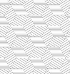 Slim gray hatched cubes vector image vector image