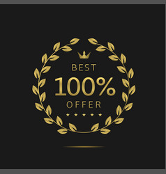 the best offer vector image