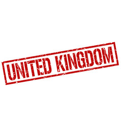 united kingdom red square stamp vector image vector image
