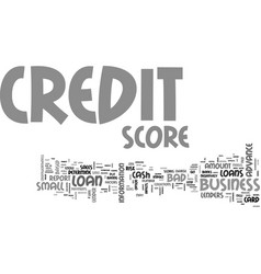 what goes behind your credit score text word vector image