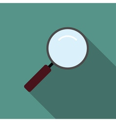 Loupe magnifier icon flat vector