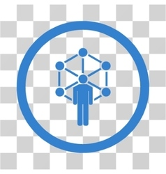 Network administrator flat rounded icon vector