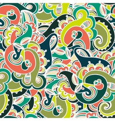 Gorgeous colorful seamless paisley pattern vector image