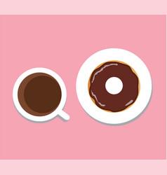 coffee donut vector image