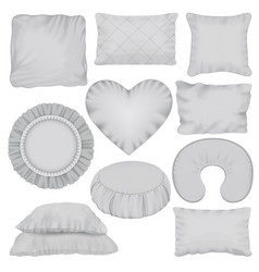 Pillow mockup set realistic style vector