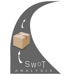 Swot analysis strategy management with delivery an vector