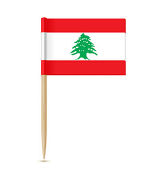 Flag of lebanon flag toothpick vector