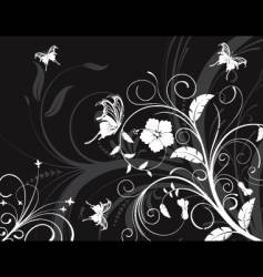 Flower design background vector