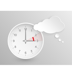 European Summer Time ends clock with cloud vector image
