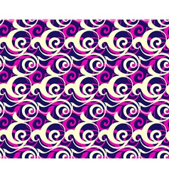Geometric seamless pattern background Retro style vector image