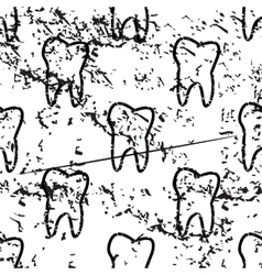 Tooth pattern grunge monochrome vector