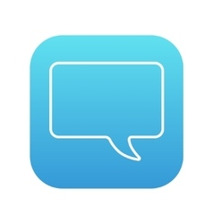 Empty speech bubble line icon vector