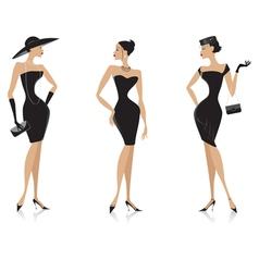 Fashion black dress vector