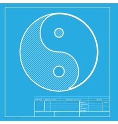 Ying yang symbol of harmony and balance white vector