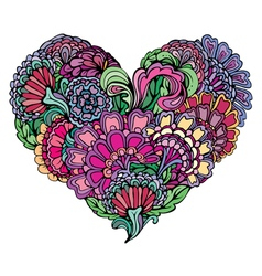 abstract flower heart 380 vector image