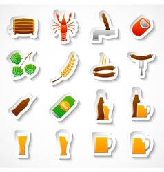 Alcohol beer party stickers set vector image vector image