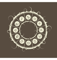 Astrology symbols in circle vector