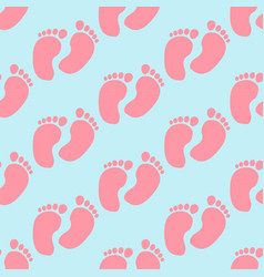 Baby footprint pattern vector