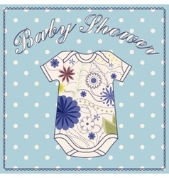 Baby shower wath body clothing vector