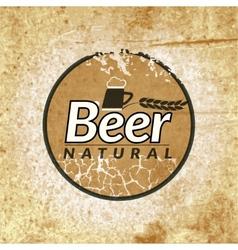 Beer vintage label vector image