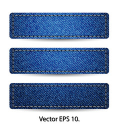 blue denim jean tag label vector image