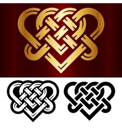 celtic heart vector image