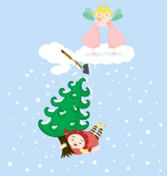 cherie stole tree vector image vector image
