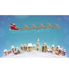 Christmas Santa Claus rides vector image vector image