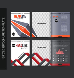 Corporate business stationery bifold brochure vector image vector image