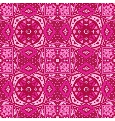Cute pink geometry ornament background vector