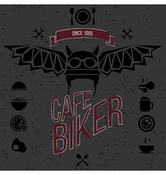 Design elements for the cafe bar for bikers vector image vector image
