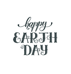 Earth day wording vector