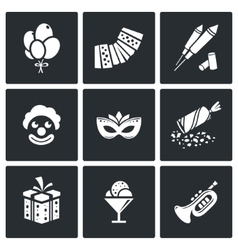 Event agency icon set vector