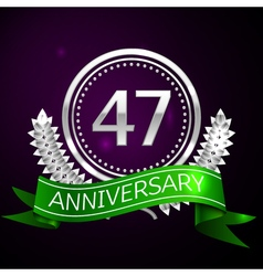 Forty seven years anniversary celebration with vector image vector image