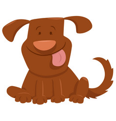Funny dog with tongue cartoon vector