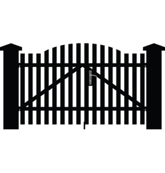 gate silhouette vector image