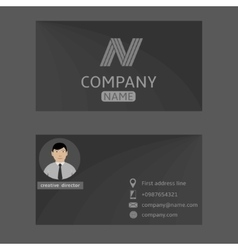 Grey card vector image vector image