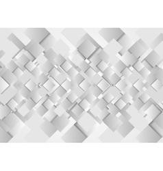 Hi-tech geometric grey squares design vector