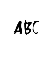 Letters abc handwritten by dry brush rough vector