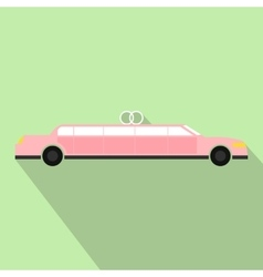 Limousine flat icon vector image