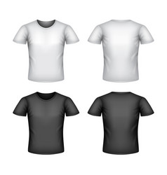 Male t-shirt isolated on white vector