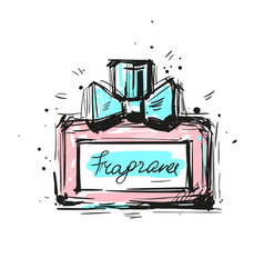 Perfume bottle eau de parfum vector