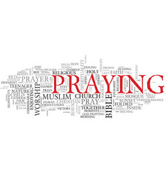 Pray word cloud concept vector