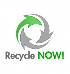 recycle now design element vector image vector image