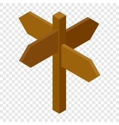 Signpost isometric 3d icon vector