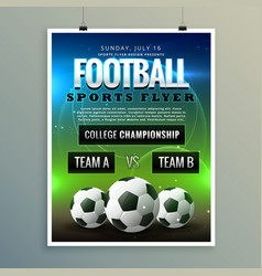Soccer football poster flyer template vector