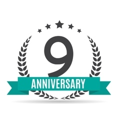 Template logo 9 years anniversary vector