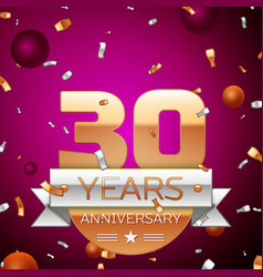 Thirty years anniversary celebration design vector